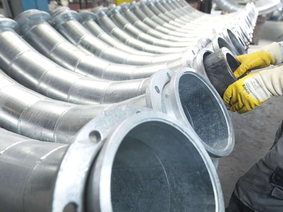 Cast cylinders for piping components